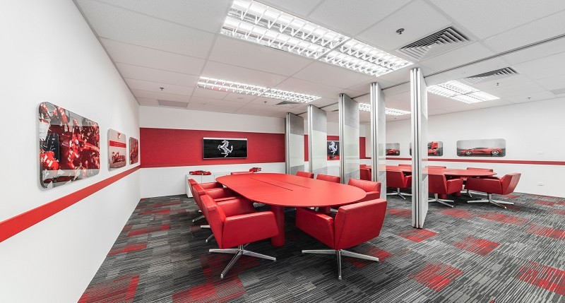 Ferrari South East Asia HQ workplace designed by JLL