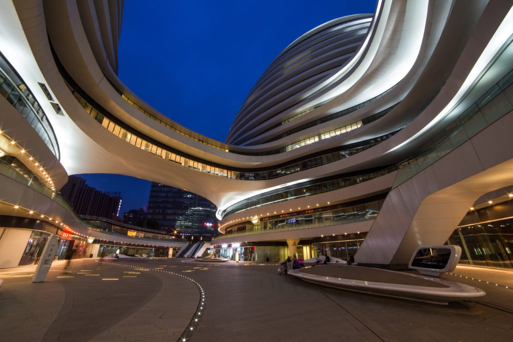 2016-11-25:China galaxy soho in Beijing which is designed by Zaha; Shutterstock ID 523094332